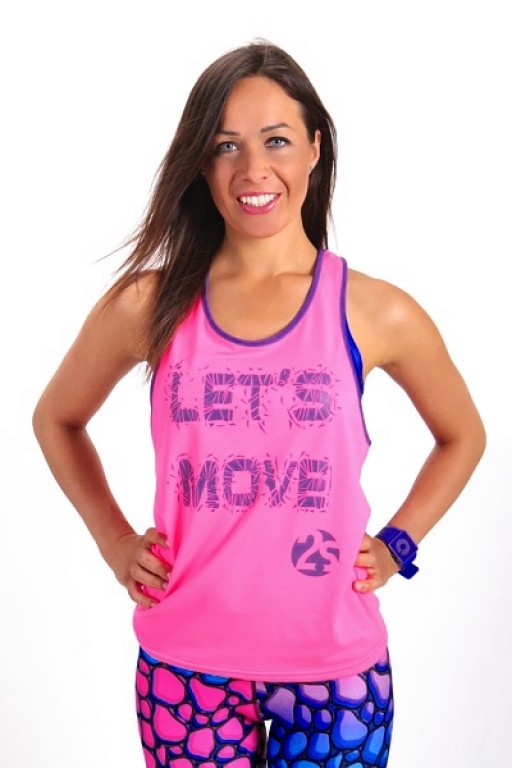 Fitness Top LET´S MOVE pink
