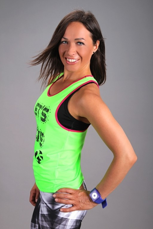 Fitness Top LET´S MOVE green