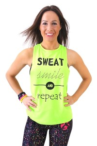 Fitness top SMILE neon